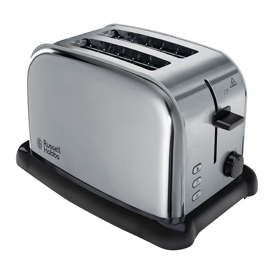 Russell Hobbs Oxford Wide-Slot 2-Slice Toaster - Brushed Stainless Steel